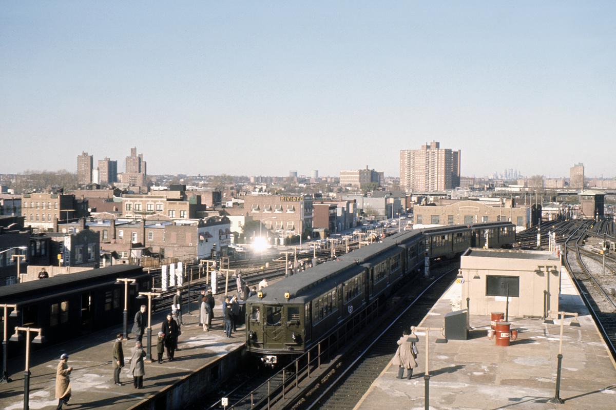 (372k, 1044x705)<br><b>Country:</b> United States<br><b>City:</b> New York<br><b>System:</b> New York City Transit<br><b>Location:</b> Coney Island/Stillwell Avenue<br><b>Route:</b> Fan Trip<br><b>Car:</b> Low-V (Museum Train) 5483 <br><b>Collection of:</b> David Pirmann<br><b>Date:</b> 11/14/1965<br><b>Viewed (this week/total):</b> 3 / 4663