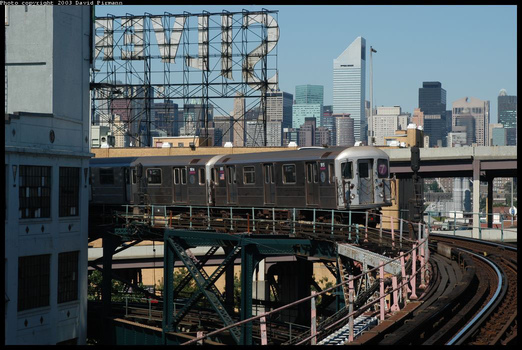 (242k, 1044x701)<br><b>Country:</b> United States<br><b>City:</b> New York<br><b>System:</b> New York City Transit<br><b>Line:</b> IRT Flushing Line<br><b>Location:</b> Queensborough Plaza <br><b>Route:</b> 7<br><b>Car:</b> R-62A (Bombardier, 1984-1987)  1815 <br><b>Photo by:</b> David Pirmann<br><b>Date:</b> 8/23/2003<br><b>Viewed (this week/total):</b> 0 / 3894