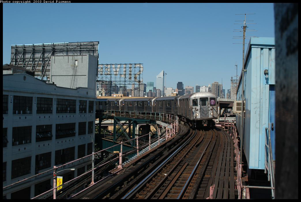 (196k, 1044x701)<br><b>Country:</b> United States<br><b>City:</b> New York<br><b>System:</b> New York City Transit<br><b>Line:</b> IRT Flushing Line<br><b>Location:</b> Queensborough Plaza <br><b>Route:</b> 7<br><b>Car:</b> R-62A (Bombardier, 1984-1987)  1851 <br><b>Photo by:</b> David Pirmann<br><b>Date:</b> 8/23/2003<br><b>Viewed (this week/total):</b> 1 / 3421