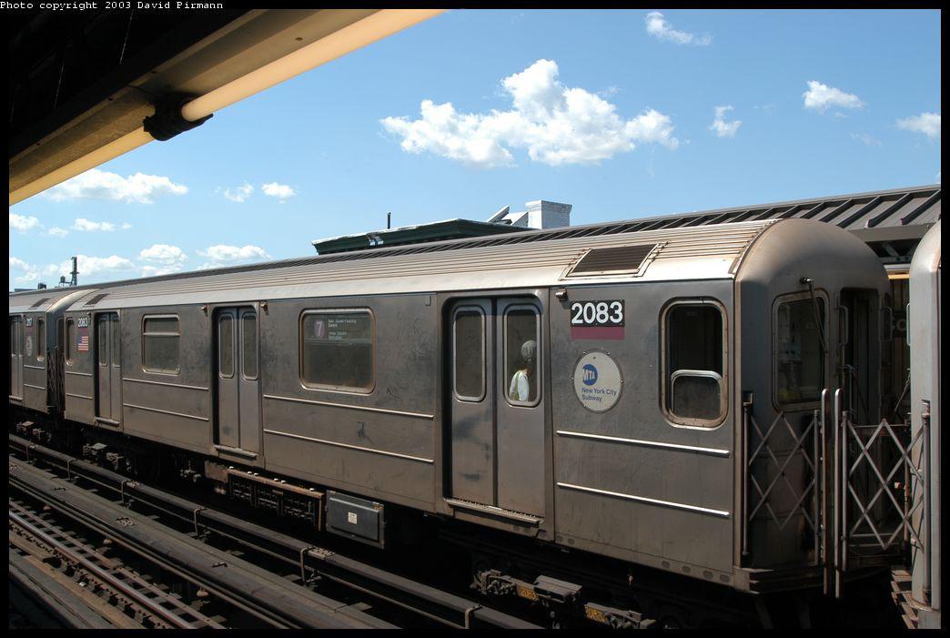 (187k, 1044x701)<br><b>Country:</b> United States<br><b>City:</b> New York<br><b>System:</b> New York City Transit<br><b>Line:</b> IRT Flushing Line<br><b>Location:</b> Court House Square/45th Road <br><b>Route:</b> 7<br><b>Car:</b> R-62A (Bombardier, 1984-1987)  2083 <br><b>Photo by:</b> David Pirmann<br><b>Date:</b> 8/23/2003<br><b>Viewed (this week/total):</b> 0 / 2587
