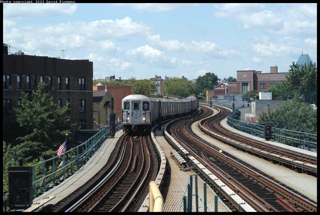 (243k, 1044x701)<br><b>Country:</b> United States<br><b>City:</b> New York<br><b>System:</b> New York City Transit<br><b>Line:</b> IRT Flushing Line<br><b>Location:</b> 61st Street/Woodside <br><b>Route:</b> 7<br><b>Car:</b> R-62A (Bombardier, 1984-1987)  1815 <br><b>Photo by:</b> David Pirmann<br><b>Date:</b> 8/23/2003<br><b>Viewed (this week/total):</b> 1 / 5545