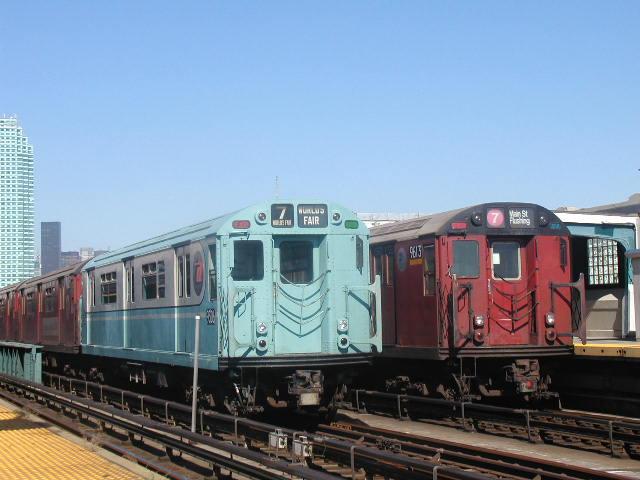 (61k, 640x480)<br><b>Country:</b> United States<br><b>City:</b> New York<br><b>System:</b> New York City Transit<br><b>Line:</b> IRT Flushing Line<br><b>Location:</b> 33rd Street/Rawson Street <br><b>Route:</b> Fan Trip<br><b>Car:</b> R-33 World's Fair (St. Louis, 1963-64) 9306 <br><b>Photo by:</b> Carlton Walton<br><b>Date:</b> 8/23/2003<br><b>Viewed (this week/total):</b> 0 / 3291