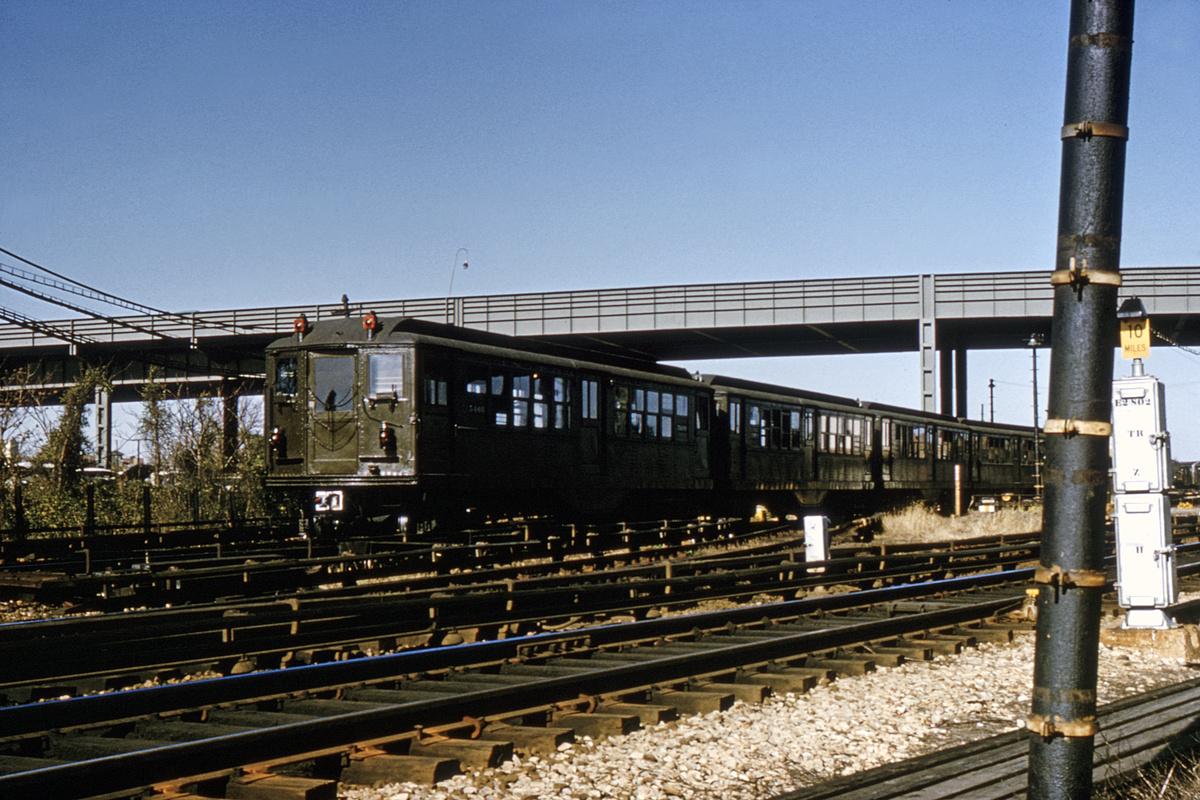 (363k, 1024x683)<br><b>Country:</b> United States<br><b>City:</b> New York<br><b>System:</b> New York City Transit<br><b>Location:</b> Coney Island Yard<br><b>Route:</b> Fan Trip<br><b>Car:</b> Low-V (Museum Train) 5466 <br><b>Collection of:</b> David Pirmann<br><b>Date:</b> 11/24/1964<br><b>Viewed (this week/total):</b> 21 / 2945