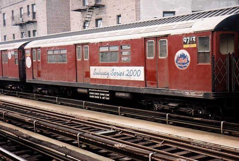 (113k, 800x539)<br><b>Country:</b> United States<br><b>City:</b> New York<br><b>System:</b> New York City Transit<br><b>Line:</b> IRT Flushing Line<br><b>Location:</b> 52nd Street/Lincoln Avenue <br><b>Route:</b> 7<br><b>Car:</b> R-36 World's Fair (St. Louis, 1963-64) 9713 <br><b>Photo by:</b> Gary Chatterton<br><b>Date:</b> 7/28/2003<br><b>Viewed (this week/total):</b> 5 / 2567