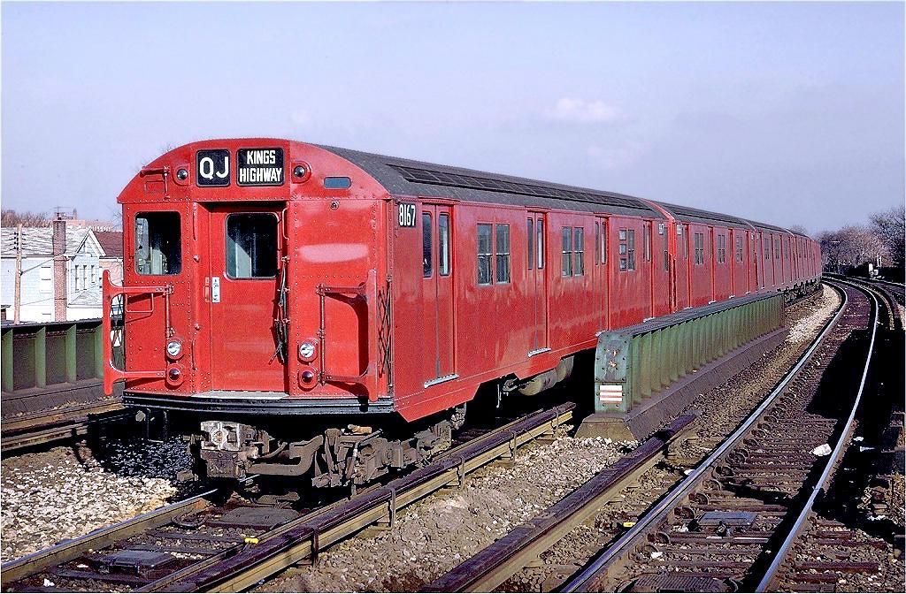 (225k, 1024x672)<br><b>Country:</b> United States<br><b>City:</b> New York<br><b>System:</b> New York City Transit<br><b>Line:</b> BMT Brighton Line<br><b>Location:</b> Sheepshead Bay <br><b>Route:</b> QJ<br><b>Car:</b> R-27 (St. Louis, 1960)  8167 <br><b>Photo by:</b> Doug Grotjahn<br><b>Collection of:</b> Joe Testagrose<br><b>Date:</b> 12/1/1968<br><b>Viewed (this week/total):</b> 0 / 3711