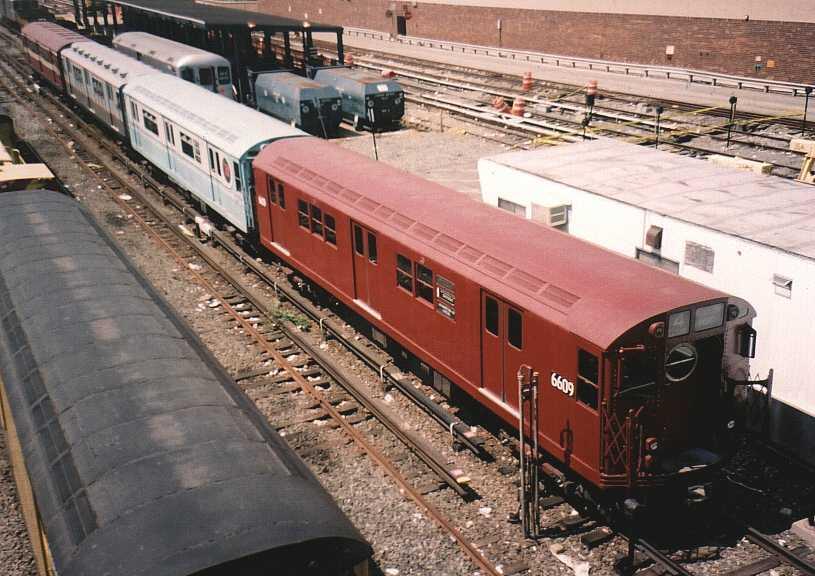 (66k, 815x576)<br><b>Country:</b> United States<br><b>City:</b> New York<br><b>System:</b> New York City Transit<br><b>Location:</b> Corona Yard<br><b>Car:</b> R-17 (St. Louis, 1955-56) 6609 <br><b>Photo by:</b> Gary Chatterton<br><b>Date:</b> 8/21/2003<br><b>Viewed (this week/total):</b> 1 / 2908