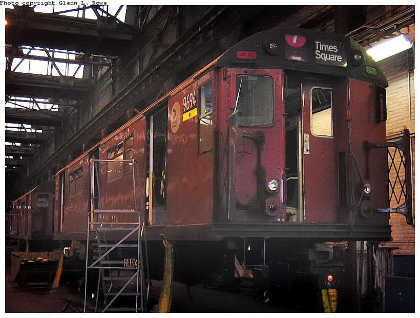 (132k, 820x620)<br><b>Country:</b> United States<br><b>City:</b> New York<br><b>System:</b> New York City Transit<br><b>Location:</b> 207th Street Shop<br><b>Car:</b> R-36 World's Fair (St. Louis, 1963-64) 9694 <br><b>Photo by:</b> Glenn L. Rowe<br><b>Date:</b> 9/1/2003<br><b>Viewed (this week/total):</b> 3 / 3247