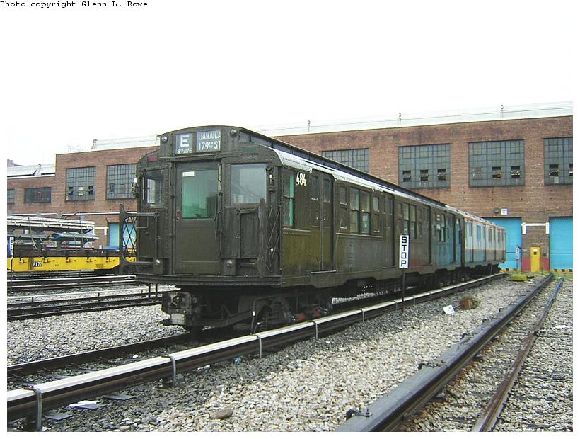 (134k, 820x620)<br><b>Country:</b> United States<br><b>City:</b> New York<br><b>System:</b> New York City Transit<br><b>Location:</b> 207th Street Yard<br><b>Car:</b> R-4 (American Car & Foundry, 1932-1933) 484 <br><b>Photo by:</b> Glenn L. Rowe<br><b>Date:</b> 9/1/2003<br><b>Viewed (this week/total):</b> 1 / 3775