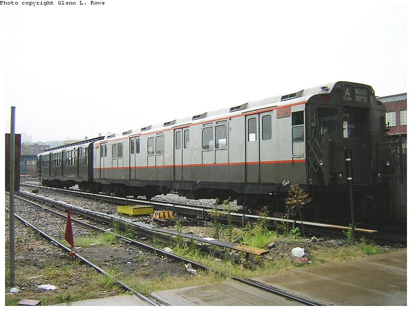 (117k, 820x620)<br><b>Country:</b> United States<br><b>City:</b> New York<br><b>System:</b> New York City Transit<br><b>Location:</b> 207th Street Yard<br><b>Car:</b> R-7A (Pullman, 1938)  1575 <br><b>Photo by:</b> Glenn L. Rowe<br><b>Date:</b> 9/1/2003<br><b>Viewed (this week/total):</b> 0 / 2995