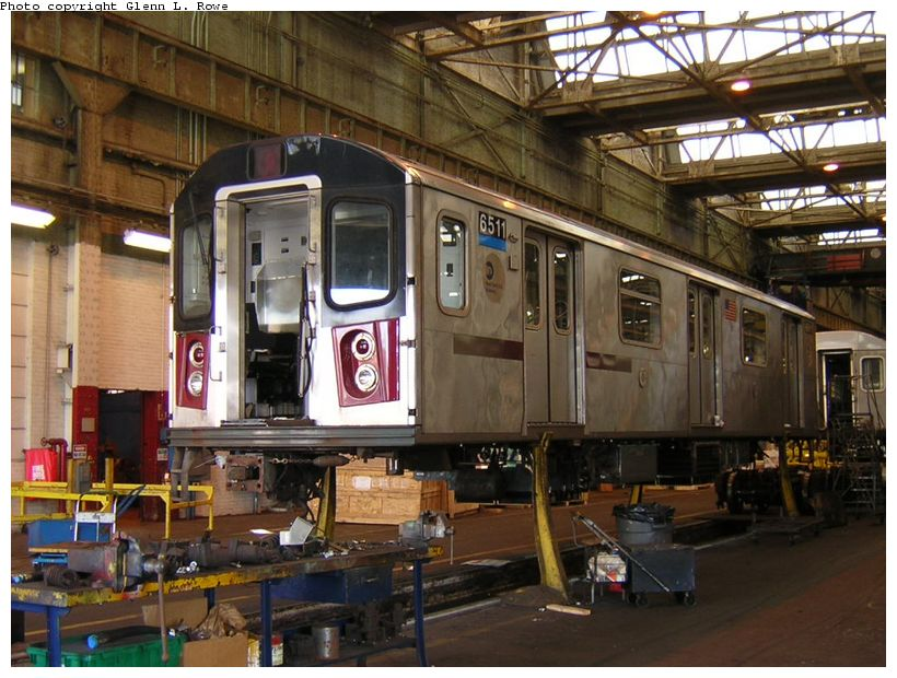 (139k, 820x620)<br><b>Country:</b> United States<br><b>City:</b> New York<br><b>System:</b> New York City Transit<br><b>Location:</b> 207th Street Shop<br><b>Car:</b> R-142 (Primary Order, Bombardier, 1999-2002)  6511 <br><b>Photo by:</b> Glenn L. Rowe<br><b>Date:</b> 9/12/2003<br><b>Viewed (this week/total):</b> 2 / 6168