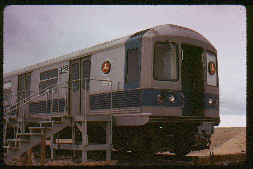 (400k, 860x574)<br><b>Country:</b> United States<br><b>City:</b> New York<br><b>System:</b> New York City Transit<br><b>Location:</b> US DOT Test Facility, Pueblo, Colorado<br><b>Car:</b> R-42 (St. Louis, 1969-1970)  4765 <br><b>Photo by:</b> Phil Hom<br><b>Date:</b> 1/1973<br><b>Viewed (this week/total):</b> 0 / 3635