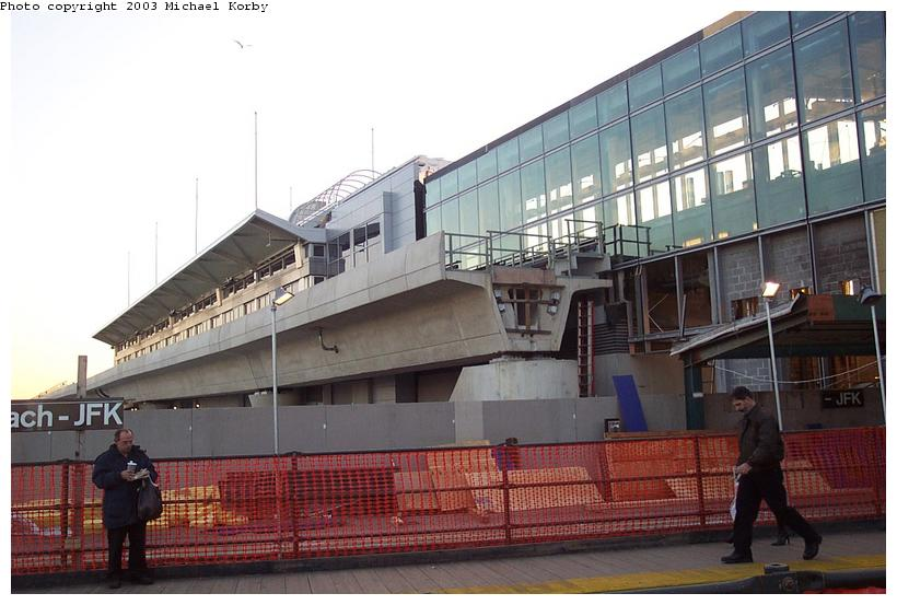 (82k, 820x553)<br><b>Country:</b> United States<br><b>City:</b> New York<br><b>System:</b> New York City Transit<br><b>Line:</b> IND Rockaway<br><b>Location:</b> Howard Beach <br><b>Photo by:</b> Michael Korby<br><b>Date:</b> 11/4/2002<br><b>Viewed (this week/total):</b> 0 / 3143