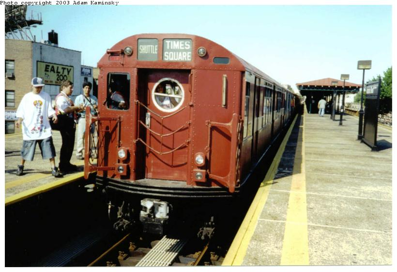 (68k, 820x561)<br><b>Country:</b> United States<br><b>City:</b> New York<br><b>System:</b> New York City Transit<br><b>Line:</b> BMT Astoria Line<br><b>Location:</b> Astoria Boulevard/Hoyt Avenue <br><b>Route:</b> Fan Trip<br><b>Car:</b> R-15 (American Car & Foundry, 1950) 6239 <br><b>Photo by:</b> Adam Kaminsky<br><b>Date:</b> 8/23/2003<br><b>Viewed (this week/total):</b> 0 / 3407