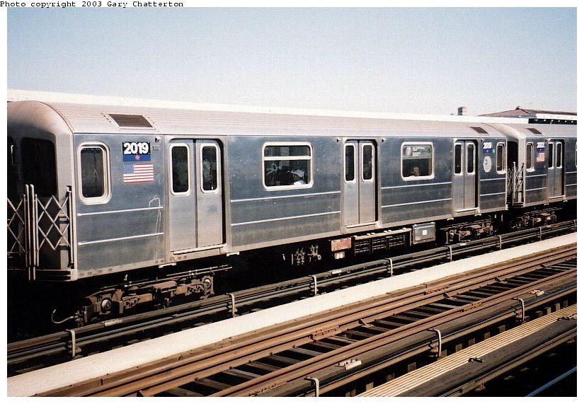 (113k, 825x571)<br><b>Country:</b> United States<br><b>City:</b> New York<br><b>System:</b> New York City Transit<br><b>Line:</b> IRT Flushing Line<br><b>Location:</b> 74th Street/Broadway <br><b>Route:</b> 7<br><b>Car:</b> R-62A (Bombardier, 1984-1987)  2019 <br><b>Photo by:</b> Gary Chatterton<br><b>Date:</b> 9/1/2003<br><b>Viewed (this week/total):</b> 1 / 3268