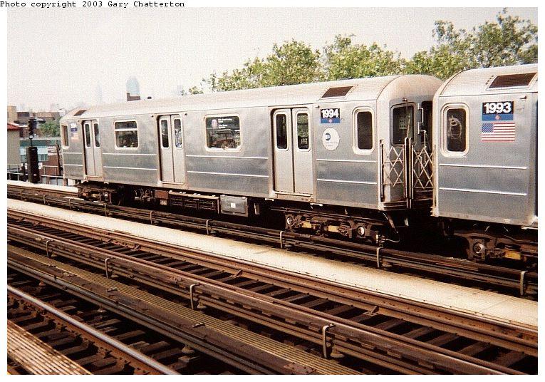(112k, 765x536)<br><b>Country:</b> United States<br><b>City:</b> New York<br><b>System:</b> New York City Transit<br><b>Line:</b> IRT Flushing Line<br><b>Location:</b> 52nd Street/Lincoln Avenue <br><b>Route:</b> 7<br><b>Car:</b> R-62A (Bombardier, 1984-1987)  1994 <br><b>Photo by:</b> Gary Chatterton<br><b>Date:</b> 9/20/2003<br><b>Viewed (this week/total):</b> 0 / 2958
