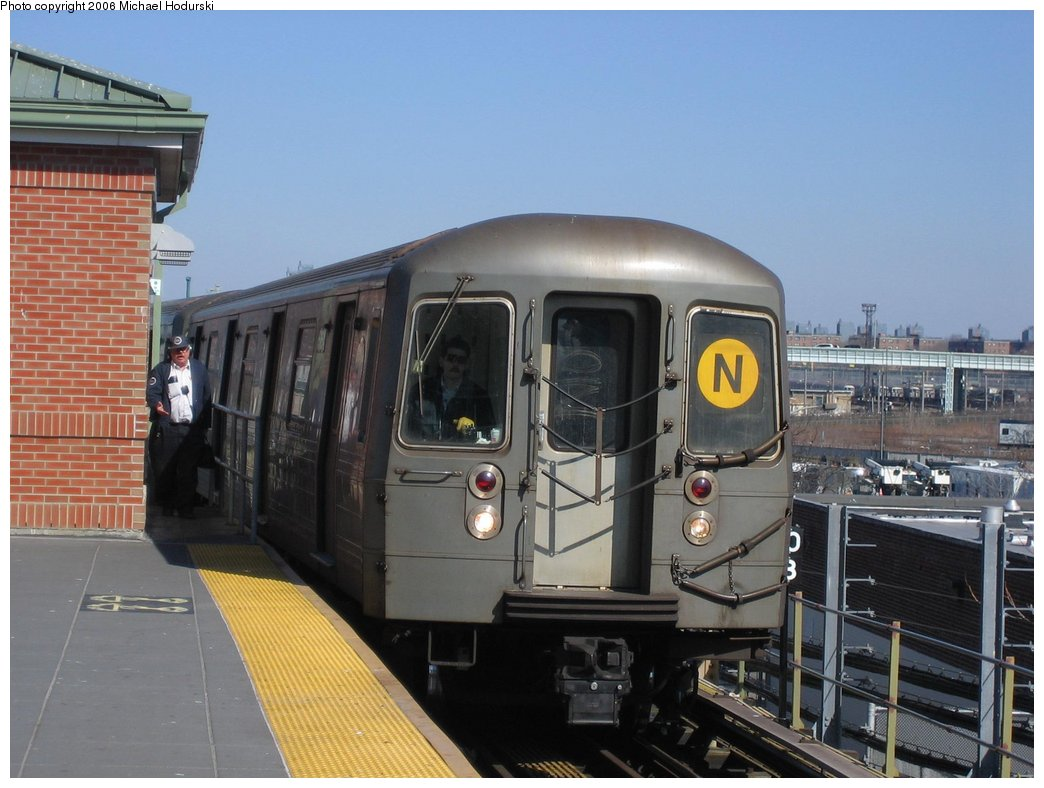 (151k, 1044x788)<br><b>Country:</b> United States<br><b>City:</b> New York<br><b>System:</b> New York City Transit<br><b>Location:</b> Coney Island/Stillwell Avenue<br><b>Route:</b> N<br><b>Car:</b> R-68A (Kawasaki, 1988-1989)  5160 <br><b>Photo by:</b> Michael Hodurski<br><b>Date:</b> 3/11/2006<br><b>Viewed (this week/total):</b> 0 / 3319