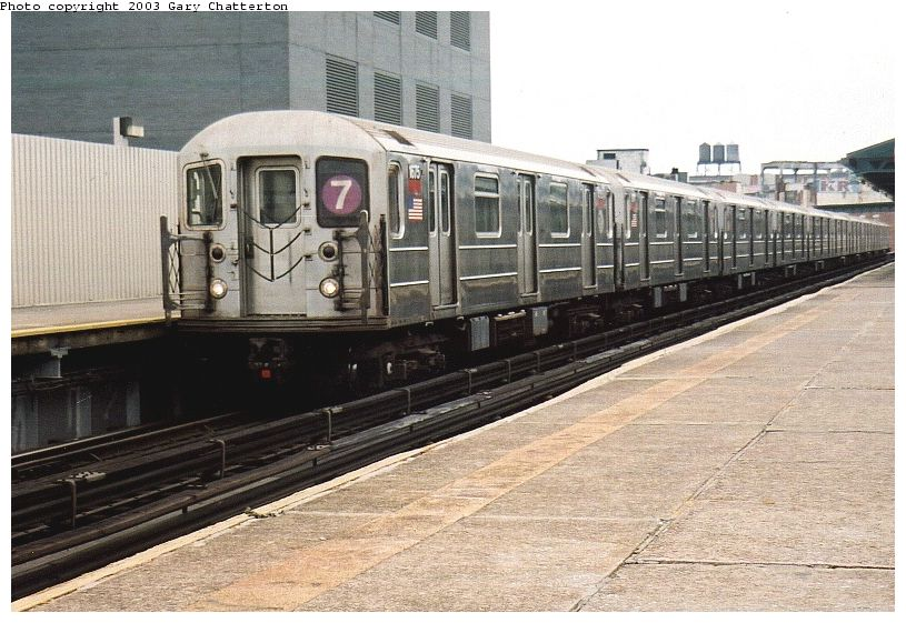 (100k, 815x561)<br><b>Country:</b> United States<br><b>City:</b> New York<br><b>System:</b> New York City Transit<br><b>Line:</b> IRT Flushing Line<br><b>Location:</b> Court House Square/45th Road <br><b>Route:</b> 7<br><b>Car:</b> R-62A (Bombardier, 1984-1987)  1675 <br><b>Photo by:</b> Gary Chatterton<br><b>Date:</b> 10/8/2003<br><b>Viewed (this week/total):</b> 0 / 3076