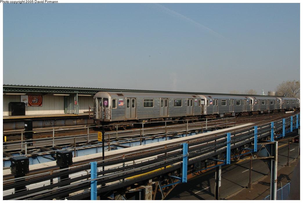 (189k, 1044x701)<br><b>Country:</b> United States<br><b>City:</b> New York<br><b>System:</b> New York City Transit<br><b>Line:</b> IRT Flushing Line<br><b>Location:</b> Willets Point/Mets (fmr. Shea Stadium) <br><b>Route:</b> 7<br><b>Car:</b> R-62A (Bombardier, 1984-1987)  2083 <br><b>Photo by:</b> David Pirmann<br><b>Date:</b> 11/3/2003<br><b>Viewed (this week/total):</b> 1 / 2718