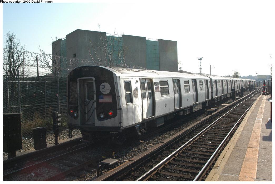 (190k, 1044x701)<br><b>Country:</b> United States<br><b>City:</b> New York<br><b>System:</b> New York City Transit<br><b>Line:</b> BMT Canarsie Line<br><b>Location:</b> East 105th Street <br><b>Route:</b> L<br><b>Car:</b> R-143 (Kawasaki, 2001-2002) 8265 <br><b>Photo by:</b> David Pirmann<br><b>Date:</b> 11/3/2003<br><b>Viewed (this week/total):</b> 1 / 5604