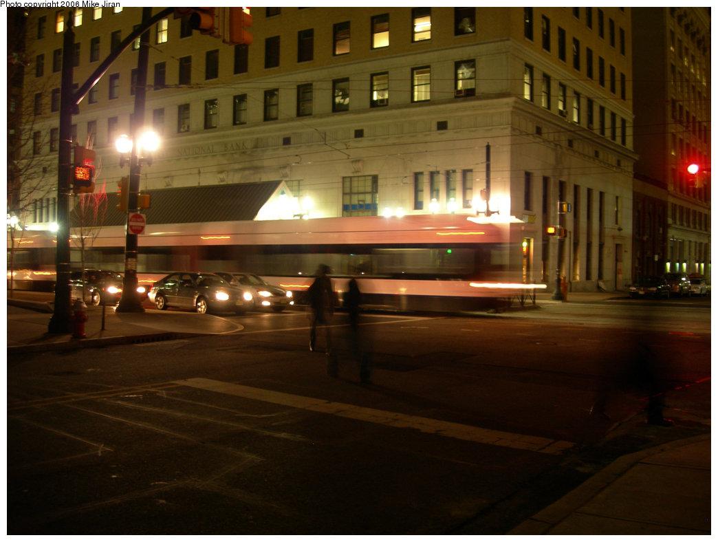 (192k, 1044x788)<br><b>Country:</b> United States<br><b>City:</b> Jersey City, NJ<br><b>System:</b> Hudson Bergen Light Rail<br><b>Location:</b> Exchange Place <br><b>Car:</b> NJT-HBLR LRV (Kinki-Sharyo, 1998-99)  2023 <br><b>Photo by:</b> Mike Jiran<br><b>Date:</b> 3/16/2006<br><b>Viewed (this week/total):</b> 2 / 2168