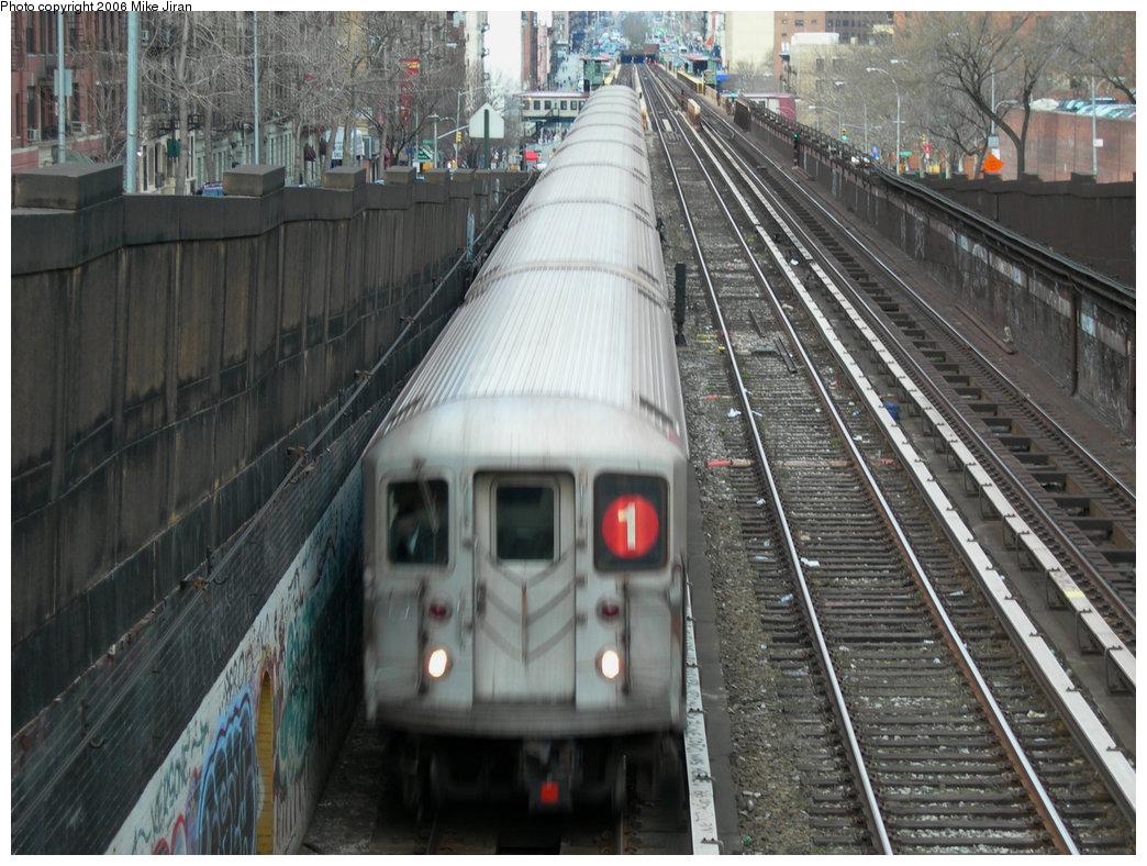 (250k, 1044x788)<br><b>Country:</b> United States<br><b>City:</b> New York<br><b>System:</b> New York City Transit<br><b>Line:</b> IRT West Side Line<br><b>Location:</b> 125th Street <br><b>Route:</b> 1<br><b>Car:</b> R-62A (Bombardier, 1984-1987)   <br><b>Photo by:</b> Mike Jiran<br><b>Date:</b> 3/19/2006<br><b>Viewed (this week/total):</b> 0 / 4357