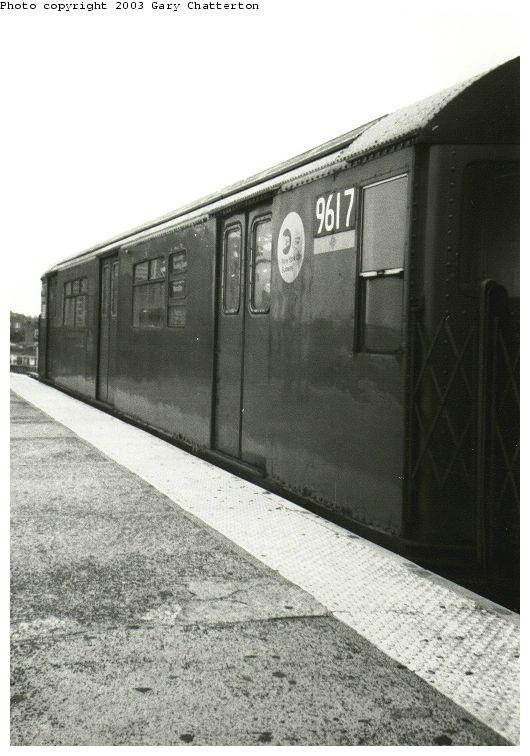 (69k, 530x756)<br><b>Country:</b> United States<br><b>City:</b> New York<br><b>System:</b> New York City Transit<br><b>Line:</b> IRT Flushing Line<br><b>Location:</b> 61st Street/Woodside <br><b>Route:</b> 7<br><b>Car:</b> R-36 World's Fair (St. Louis, 1963-64) 9617 <br><b>Photo by:</b> Gary Chatterton<br><b>Date:</b> 10/17/2003<br><b>Viewed (this week/total):</b> 5 / 3345