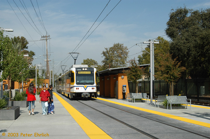 (157k, 720x478)<br><b>Country:</b> United States<br><b>City:</b> Sacramento, CA<br><b>System:</b> SACRT Light Rail<br><b>Location:</b> 4th Avenue/Wayne Hultgren <br><b>Car:</b> Sacramento CAF LRV  205 <br><b>Photo by:</b> Peter Ehrlich<br><b>Date:</b> 10/18/2003<br><b>Viewed (this week/total):</b> 0 / 1534