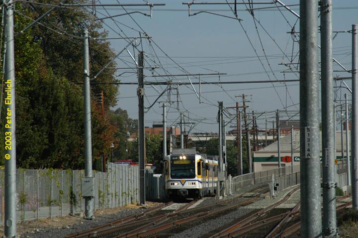 (176k, 720x478)<br><b>Country:</b> United States<br><b>City:</b> Sacramento, CA<br><b>System:</b> SACRT Light Rail<br><b>Location:</b> Bee Junction/Bee Bridge <br><b>Car:</b> Sacramento CAF LRV  207 <br><b>Photo by:</b> Peter Ehrlich<br><b>Date:</b> 10/18/2003<br><b>Viewed (this week/total):</b> 0 / 1553