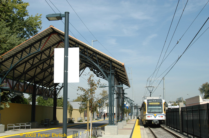 (156k, 720x478)<br><b>Country:</b> United States<br><b>City:</b> Sacramento, CA<br><b>System:</b> SACRT Light Rail<br><b>Location:</b> Broadway <br><b>Car:</b> Sacramento CAF LRV  215 <br><b>Photo by:</b> Peter Ehrlich<br><b>Date:</b> 10/18/2003<br><b>Viewed (this week/total):</b> 0 / 1346