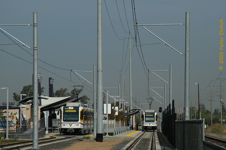 (130k, 720x478)<br><b>Country:</b> United States<br><b>City:</b> Sacramento, CA<br><b>System:</b> SACRT Light Rail<br><b>Location:</b> 47th Avenue <br><b>Car:</b> Sacramento CAF LRV  218 <br><b>Photo by:</b> Peter Ehrlich<br><b>Date:</b> 10/18/2003<br><b>Viewed (this week/total):</b> 0 / 1320
