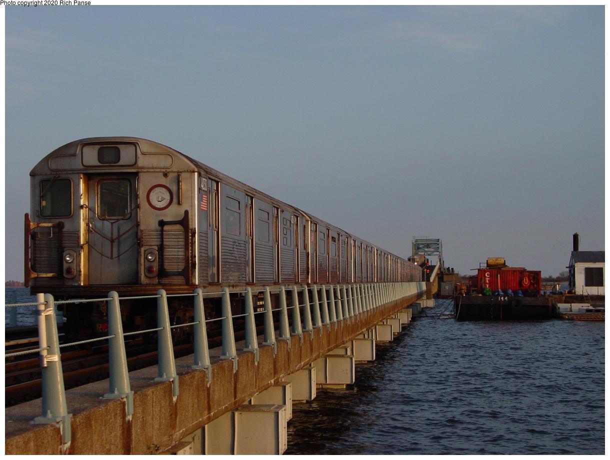 (83k, 820x620)<br><b>Country:</b> United States<br><b>City:</b> New York<br><b>System:</b> New York City Transit<br><b>Line:</b> IND Rockaway<br><b>Location:</b> Jamaica Bay Crossing<br><b>Route:</b> A<br><b>Car:</b> R-38 (St. Louis, 1966-1967)  4030 <br><b>Photo by:</b> Richard Panse<br><b>Date:</b> 4/30/2003<br><b>Viewed (this week/total):</b> 0 / 7437