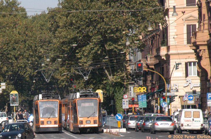 (94k, 720x475)<br><b>Country:</b> Italy<br><b>City:</b> Rome<br><b>System:</b> ATAC <br><b>Location:</b> Viale Regina Margherita<br><b>Route:</b> 3<br><b>Car:</b> Rome Double-End (Socimi, 1990)  9013 <br><b>Photo by:</b> Peter Ehrlich<br><b>Date:</b> 10/14/2002<br><b>Viewed (this week/total):</b> 0 / 1091