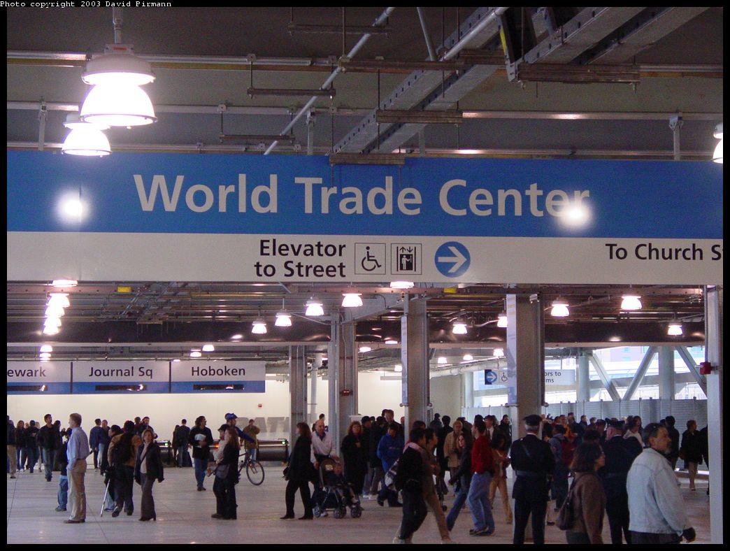 (148k, 1044x788)<br><b>Country:</b> United States<br><b>City:</b> New York<br><b>System:</b> PATH<br><b>Location:</b> World Trade Center <br><b>Photo by:</b> David Pirmann<br><b>Date:</b> 11/23/2003<br><b>Notes:</b> Upper mezzanine<br><b>Viewed (this week/total):</b> 6 / 6466