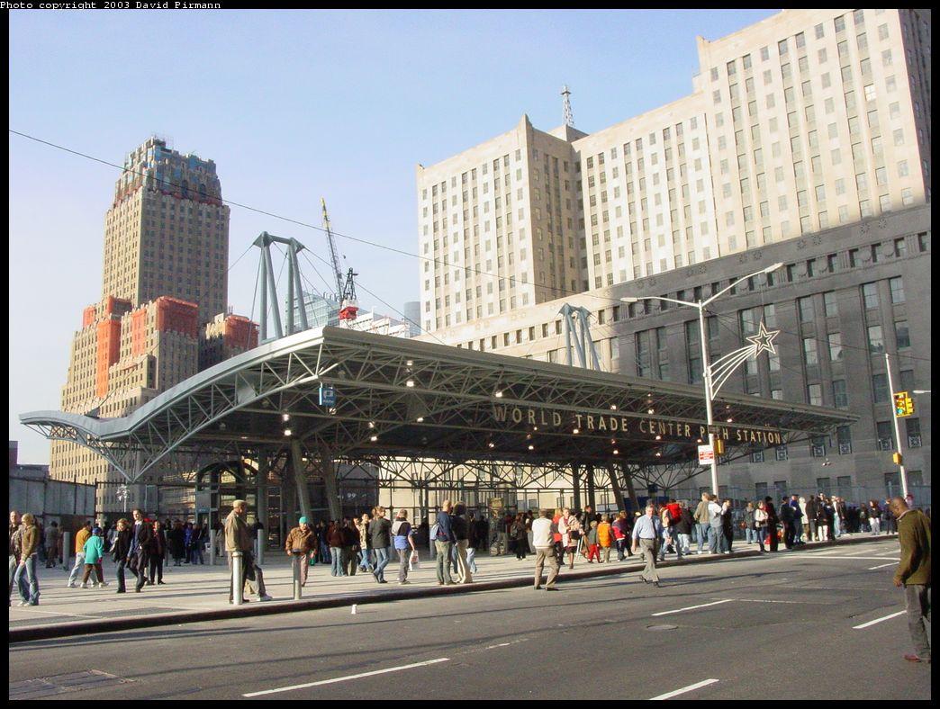 (164k, 1044x788)<br><b>Country:</b> United States<br><b>City:</b> New York<br><b>System:</b> PATH<br><b>Location:</b> World Trade Center <br><b>Photo by:</b> David Pirmann<br><b>Date:</b> 11/23/2003<br><b>Notes:</b> New street entrance at Church & Vesey<br><b>Viewed (this week/total):</b> 0 / 9711