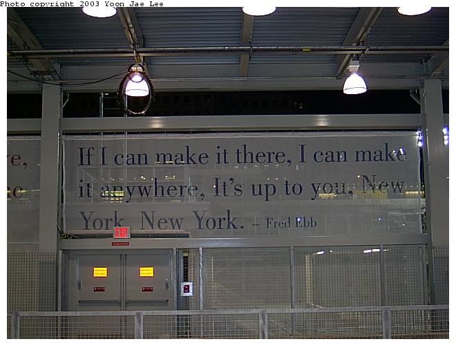 (56k, 660x500)<br><b>Country:</b> United States<br><b>City:</b> New York<br><b>System:</b> PATH<br><b>Location:</b> World Trade Center <br><b>Photo by:</b> Yoon Jae Lee<br><b>Date:</b> 11/23/2003<br><b>Notes:</b> Examples of the station artwork<br><b>Viewed (this week/total):</b> 1 / 7475