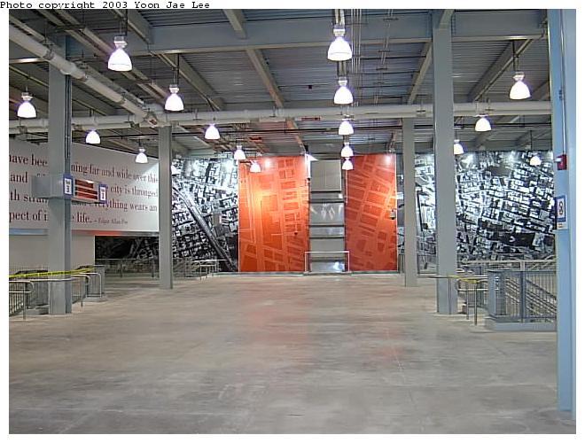 (68k, 660x500)<br><b>Country:</b> United States<br><b>City:</b> New York<br><b>System:</b> PATH<br><b>Location:</b> World Trade Center <br><b>Photo by:</b> Yoon Jae Lee<br><b>Date:</b> 11/23/2003<br><b>Notes:</b> Examples of the station artwork<br><b>Viewed (this week/total):</b> 3 / 5113