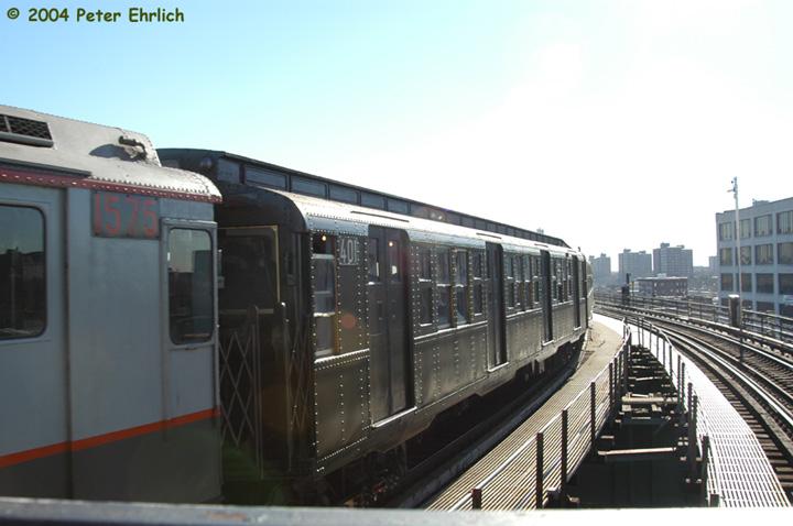 (111k, 720x478)<br><b>Country:</b> United States<br><b>City:</b> New York<br><b>System:</b> New York City Transit<br><b>Line:</b> BMT Canarsie Line<br><b>Location:</b> Atlantic Avenue <br><b>Route:</b> Fan Trip<br><b>Car:</b> R-4 (American Car & Foundry, 1932-1933) 401 <br><b>Photo by:</b> Peter Ehrlich<br><b>Date:</b> 12/28/2003<br><b>Viewed (this week/total):</b> 2 / 2787