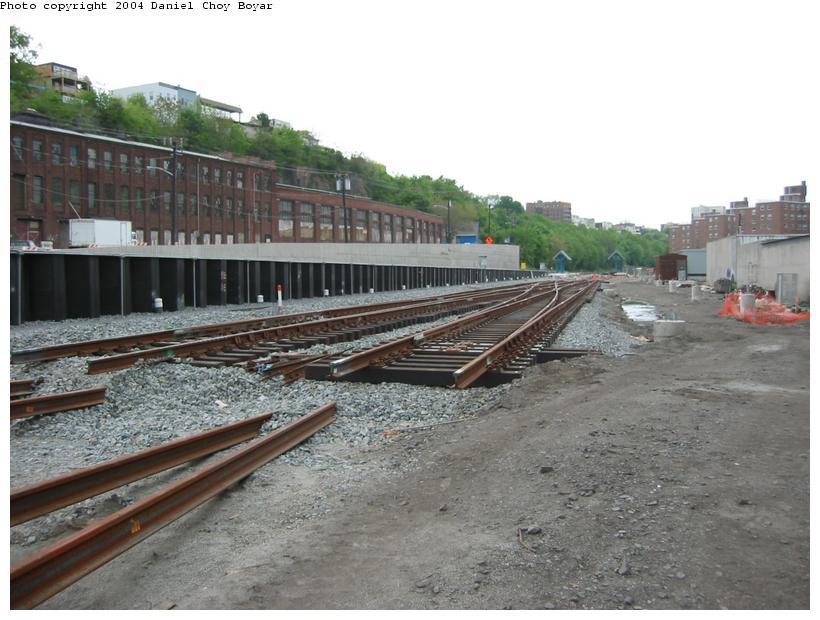 (86k, 820x620)<br><b>Country:</b> United States<br><b>City:</b> Hoboken, NJ<br><b>System:</b> Hudson Bergen Light Rail<br><b>Location:</b> Between Hoboken Wye and Paterson Ave. <br><b>Photo by:</b> Daniel C. Boyar<br><b>Date:</b> 5/16/2003<br><b>Notes:</b> Prefabricated crossover<br><b>Viewed (this week/total):</b> 0 / 2082
