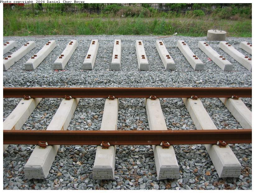 (130k, 820x620)<br><b>Country:</b> United States<br><b>City:</b> Hoboken, NJ<br><b>System:</b> Hudson Bergen Light Rail<br><b>Location:</b> Between 2nd Street and 9th Street <br><b>Photo by:</b> Daniel C. Boyar<br><b>Date:</b> 5/16/2003<br><b>Notes:</b> New track<br><b>Viewed (this week/total):</b> 0 / 2287