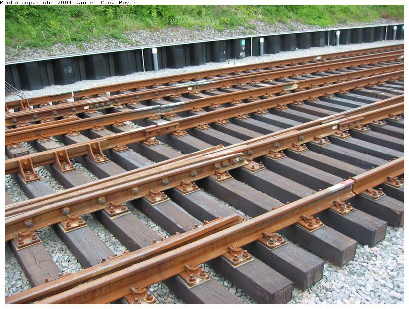 (125k, 820x620)<br><b>Country:</b> United States<br><b>City:</b> Hoboken, NJ<br><b>System:</b> Hudson Bergen Light Rail<br><b>Location:</b> Three Roads to Lincoln Harbor <br><b>Photo by:</b> Daniel C. Boyar<br><b>Date:</b> 5/16/2003<br><b>Notes:</b> South end of Three Roads three-track section<br><b>Viewed (this week/total):</b> 0 / 2582