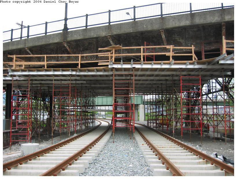 (121k, 820x620)<br><b>Country:</b> United States<br><b>City:</b> Hoboken, NJ<br><b>System:</b> Hudson Bergen Light Rail<br><b>Location:</b> Three Roads to Lincoln Harbor <br><b>Photo by:</b> Daniel C. Boyar<br><b>Date:</b> 5/16/2003<br><b>Notes:</b> Willow St. overpass<br><b>Viewed (this week/total):</b> 1 / 2557