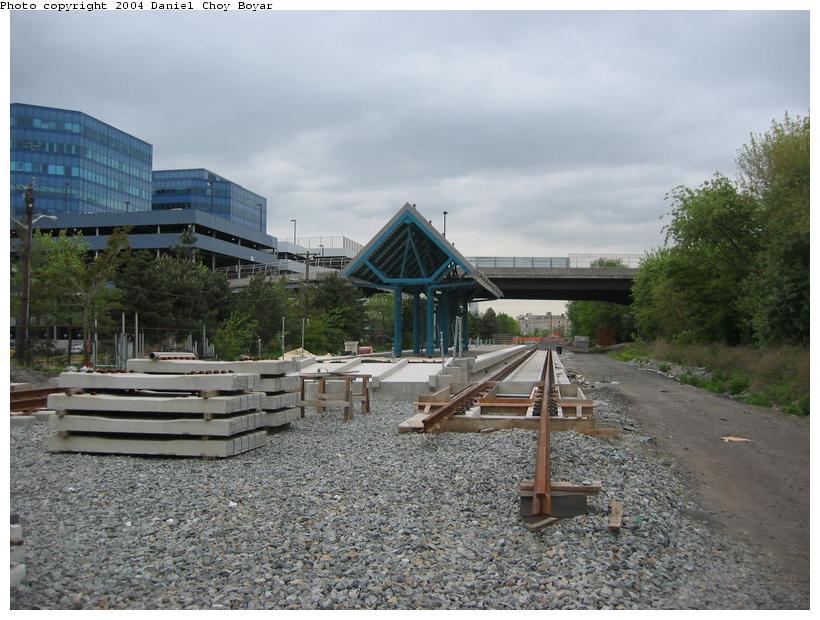 (94k, 820x620)<br><b>Country:</b> United States<br><b>City:</b> Weehawken, NJ<br><b>System:</b> Hudson Bergen Light Rail<br><b>Location:</b> Lincoln Harbor <br><b>Photo by:</b> Daniel C. Boyar<br><b>Date:</b> 5/16/2003<br><b>Notes:</b> Lincoln Harbor Station<br><b>Viewed (this week/total):</b> 0 / 3388