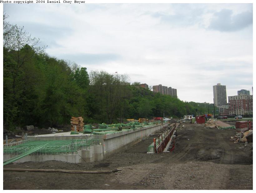 (68k, 820x620)<br><b>Country:</b> United States<br><b>City:</b> Weehawken, NJ<br><b>System:</b> Hudson Bergen Light Rail<br><b>Location:</b> Port Imperial <br><b>Photo by:</b> Daniel C. Boyar<br><b>Date:</b> 5/16/2003<br><b>Notes:</b> Site of Port Imperial Station<br><b>Viewed (this week/total):</b> 0 / 3664
