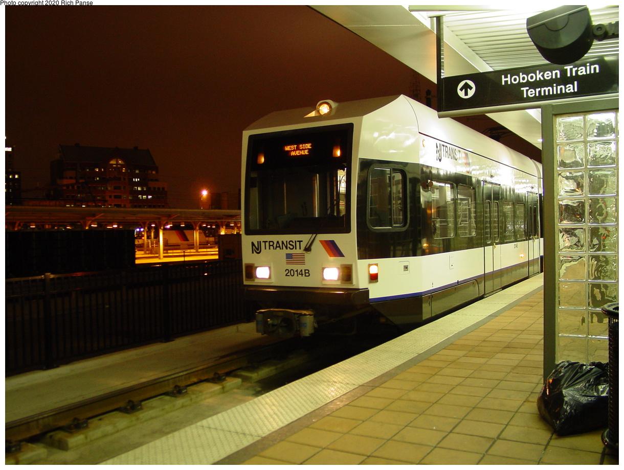 (75k, 820x620)<br><b>Country:</b> United States<br><b>City:</b> Hoboken, NJ<br><b>System:</b> Hudson Bergen Light Rail<br><b>Location:</b> Hoboken <br><b>Car:</b> NJT-HBLR LRV (Kinki-Sharyo, 1998-99)  2014 <br><b>Photo by:</b> Richard Panse<br><b>Date:</b> 10/28/2003<br><b>Viewed (this week/total):</b> 0 / 3326