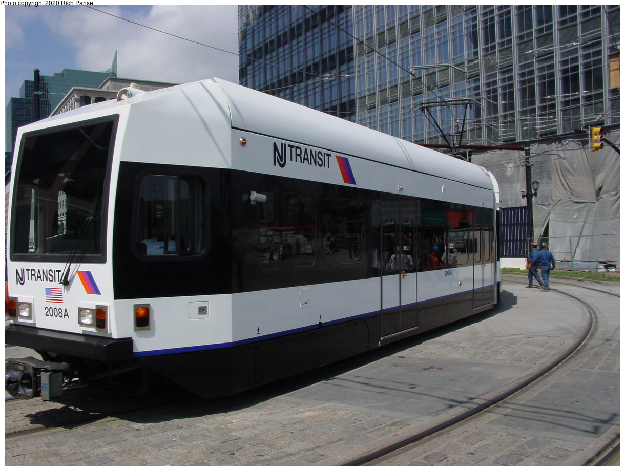 (79k, 820x620)<br><b>Country:</b> United States<br><b>City:</b> Jersey City, NJ<br><b>System:</b> Hudson Bergen Light Rail<br><b>Location:</b> Essex Street <br><b>Car:</b> NJT-HBLR LRV (Kinki-Sharyo, 1998-99)  2008 <br><b>Photo by:</b> Richard Panse<br><b>Date:</b> 6/16/2003<br><b>Viewed (this week/total):</b> 0 / 2358
