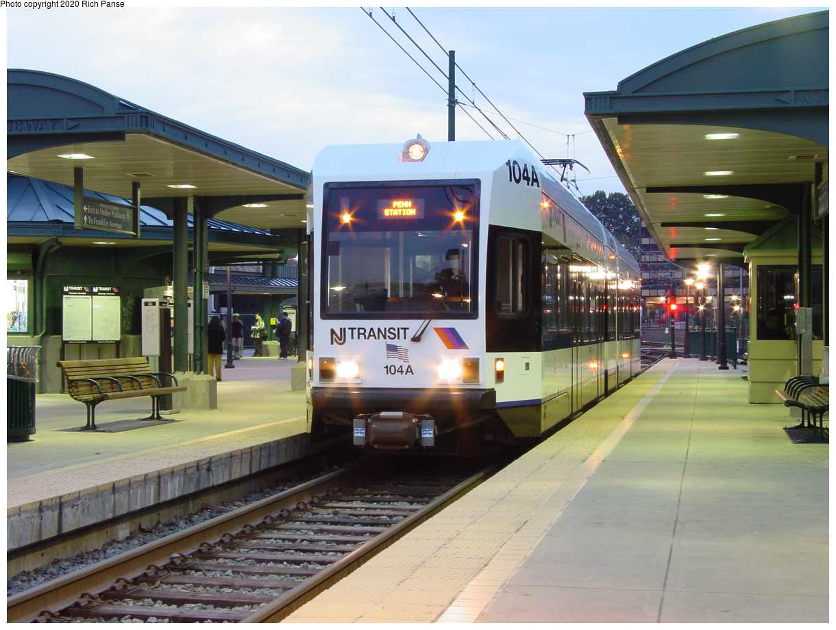 (82k, 820x620)<br><b>Country:</b> United States<br><b>City:</b> Newark, NJ<br><b>System:</b> Newark City Subway<br><b>Line:</b> 7-City Subway<br><b>Location:</b> Branch Brook Park <br><b>Car:</b> NJT Kinki-Sharyo LRV (Newark) 104 <br><b>Photo by:</b> Richard Panse<br><b>Date:</b> 10/28/2003<br><b>Viewed (this week/total):</b> 0 / 3535