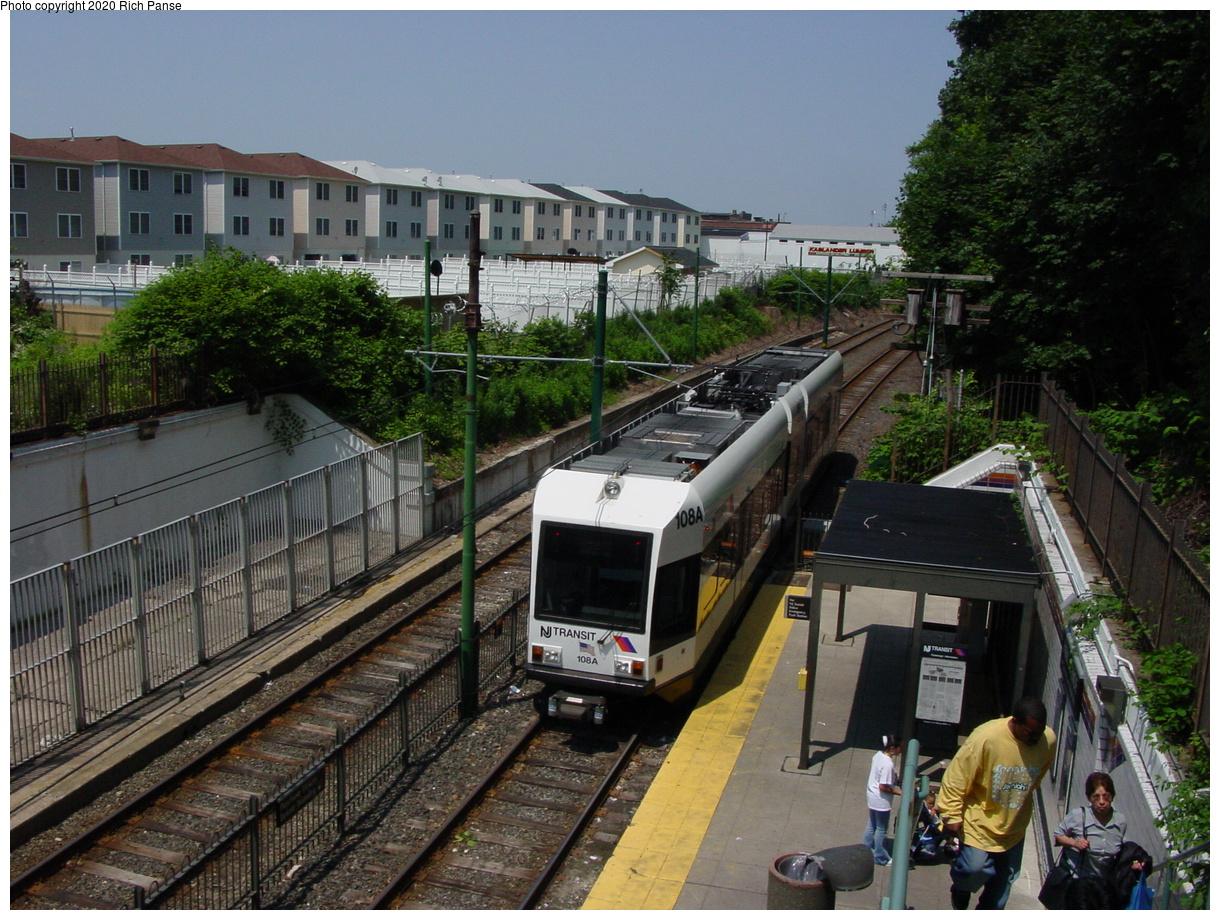 (98k, 820x620)<br><b>Country:</b> United States<br><b>City:</b> Newark, NJ<br><b>System:</b> Newark City Subway<br><b>Line:</b> 7-City Subway<br><b>Location:</b> Park Avenue <br><b>Car:</b> NJT Kinki-Sharyo LRV (Newark) 108 <br><b>Photo by:</b> Richard Panse<br><b>Date:</b> 6/23/2003<br><b>Viewed (this week/total):</b> 5 / 3582