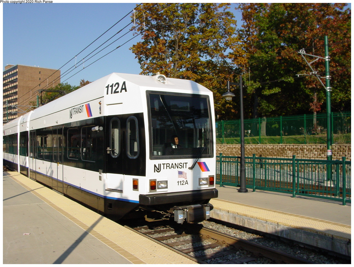 (105k, 820x620)<br><b>Country:</b> United States<br><b>City:</b> Newark, NJ<br><b>System:</b> Newark City Subway<br><b>Line:</b> 7-City Subway<br><b>Location:</b> Branch Brook Park <br><b>Car:</b> NJT Kinki-Sharyo LRV (Newark) 112 <br><b>Photo by:</b> Richard Panse<br><b>Date:</b> 10/28/2003<br><b>Viewed (this week/total):</b> 0 / 2863
