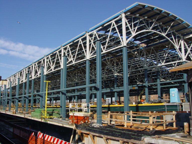 (104k, 768x576)<br><b>Country:</b> United States<br><b>City:</b> New York<br><b>System:</b> New York City Transit<br><b>Location:</b> Coney Island/Stillwell Avenue<br><b>Photo by:</b> Richard Panse<br><b>Date:</b> 2/2004<br><b>Notes:</b> View of new construction<br><b>Viewed (this week/total):</b> 1 / 2950