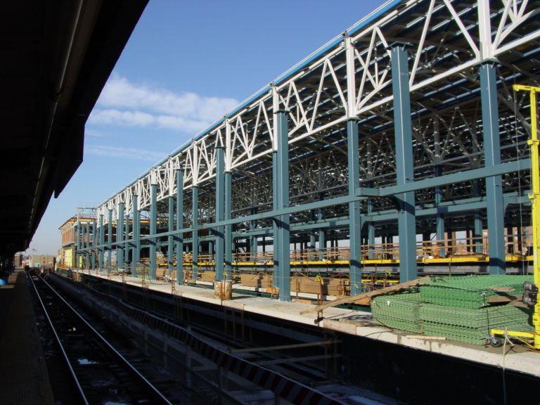 (90k, 768x576)<br><b>Country:</b> United States<br><b>City:</b> New York<br><b>System:</b> New York City Transit<br><b>Location:</b> Coney Island/Stillwell Avenue<br><b>Photo by:</b> Richard Panse<br><b>Date:</b> 2/2004<br><b>Notes:</b> View of new construction<br><b>Viewed (this week/total):</b> 0 / 2672